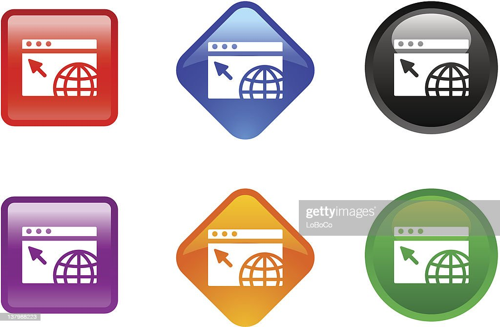 Various zee icons for an internet concept