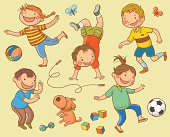 Various_Children_Playing_Kit