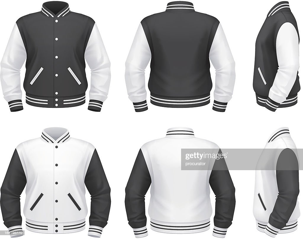Varsity jacket : stock illustration