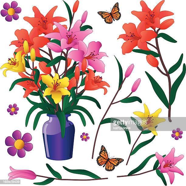vase von Lilien