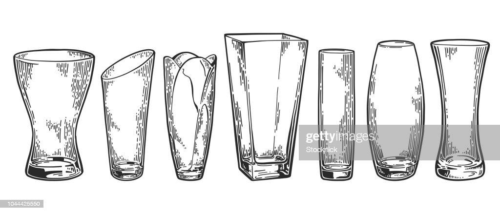 Vase set sketch 7
