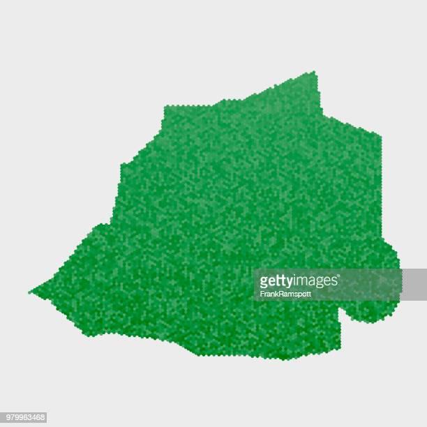 Vatican Stadt Land Map grünen Sechseck-Muster