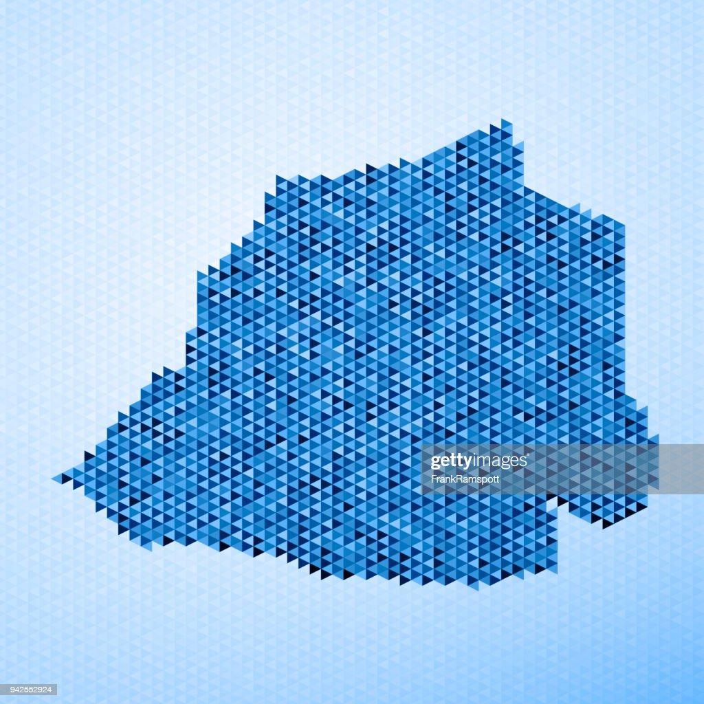Vatikanstadt Karte Dreieck Muster Blau : Stock-Illustration