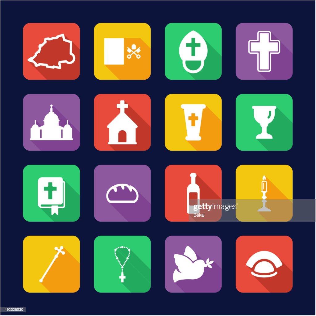 Vatican Icons Flat Design