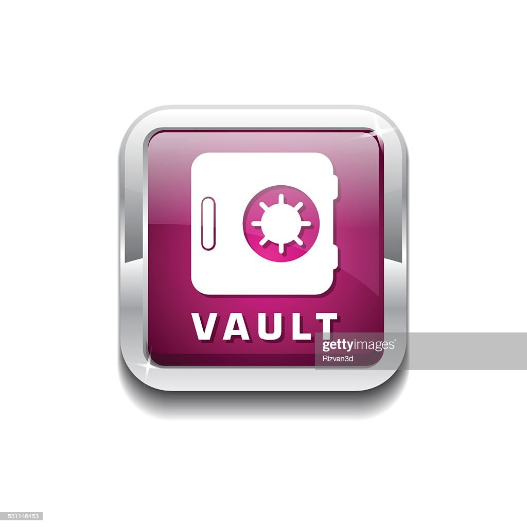 Vault Pink Vector Icon Button