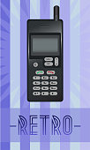 Vecto illustration of retro phone