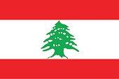 vecto of lebanon flag