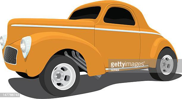 Vector 1941 Willys Coupe hot rod