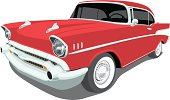 Vector 1957 Chevrolet Bel Air - Angle View