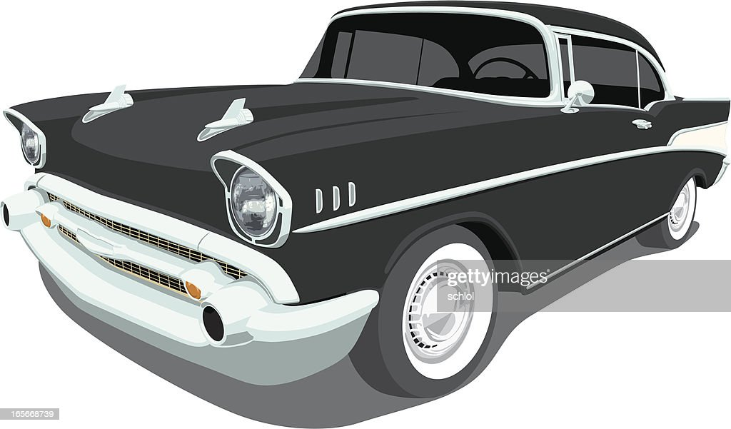 Vector 1957 Chevrolet Bel Air : Stock Illustration