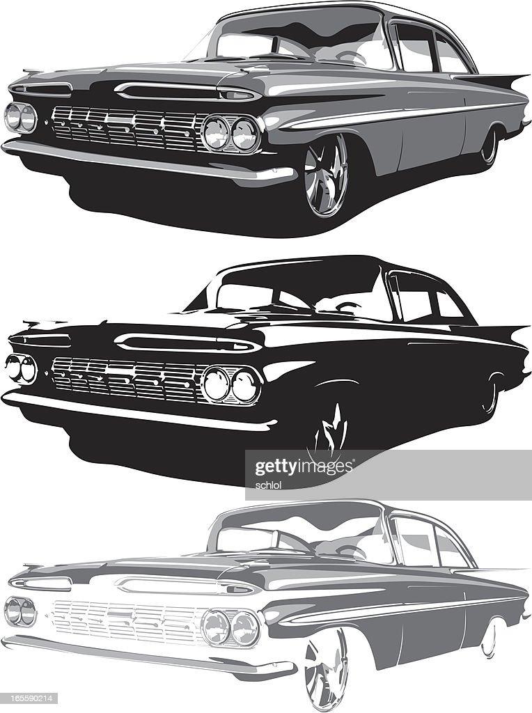 Vector 1959 Impala : stock illustration