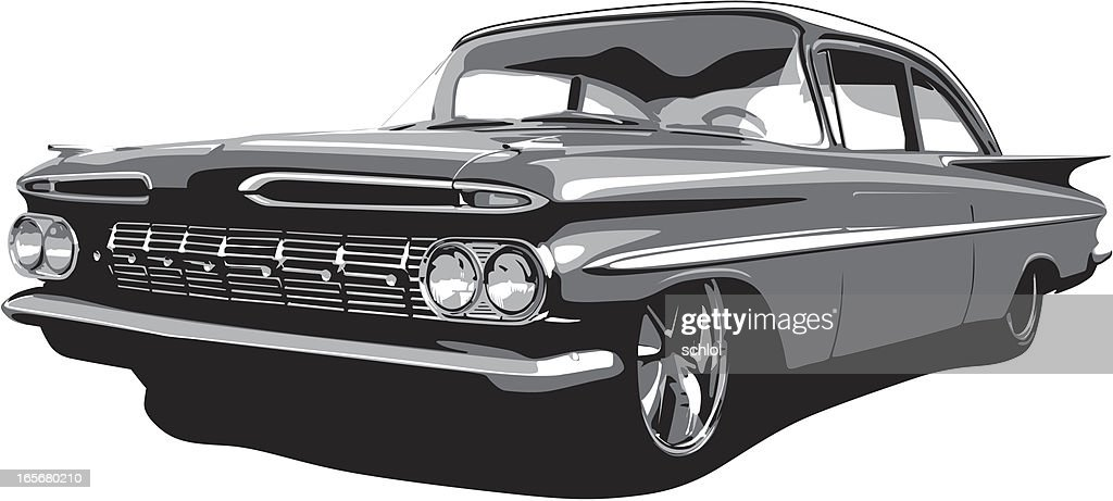 Vector 1959 Impala : stock illustration