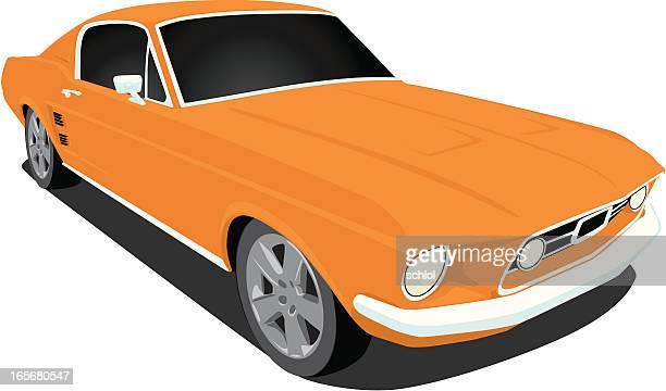 Vector 1967 Mustang Muscle Car