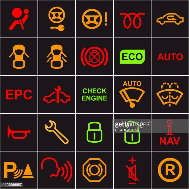 Vector 25 Car Dashboard Icons