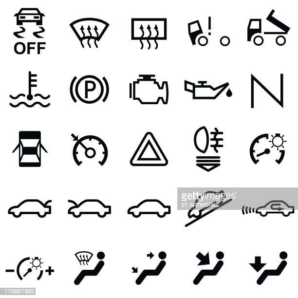 Vector 25 Car Dashboard Icons