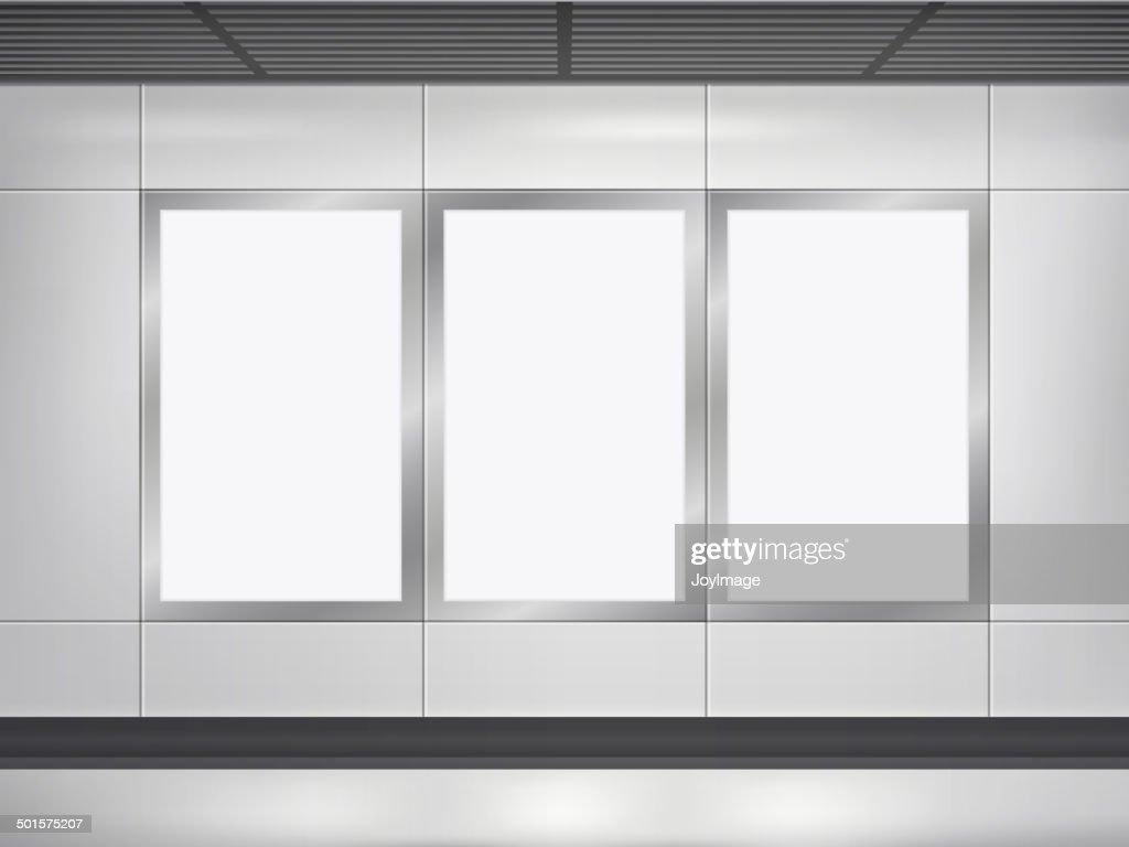 vector 3d blank billboard and lightbox