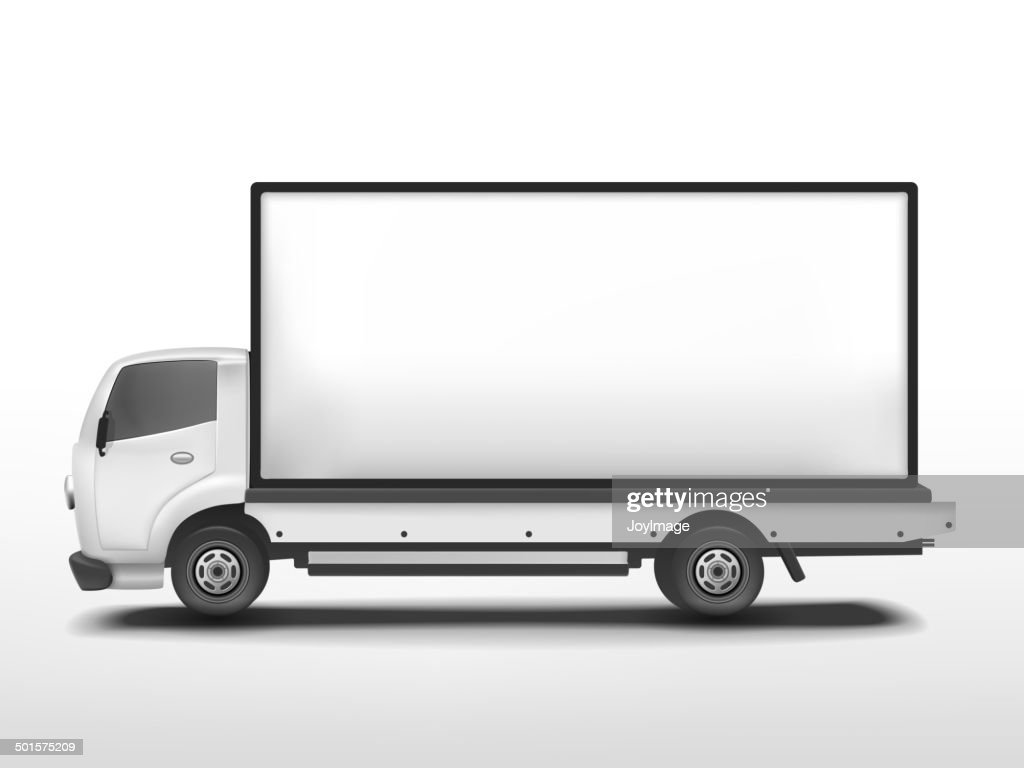 vector 3d blank mobile billboard