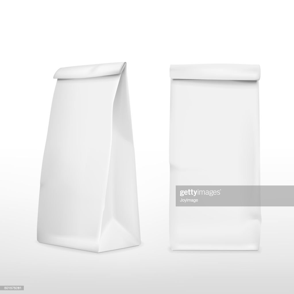 vector 3d blank paper bag