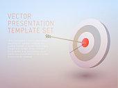 vector 3d business theme presentation template set