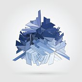Vector 3D concept illustration