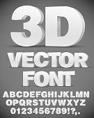 Vector 3D font