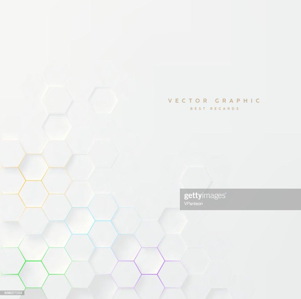 Vector 3d geometric background. Hexagonal backdrop.