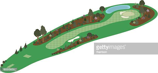 vector 3d golf hole - eagle golf stock illustrations