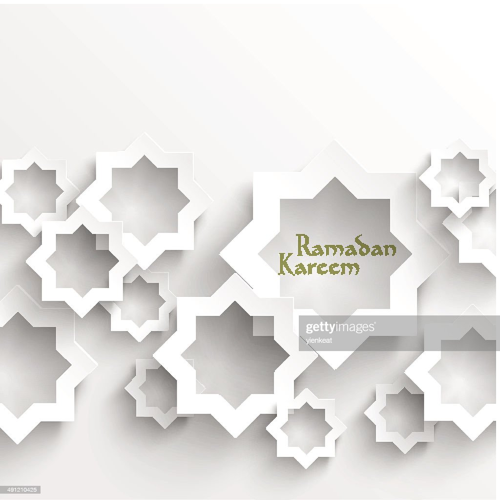 Vector 3D Muslim Paper Graphics.
