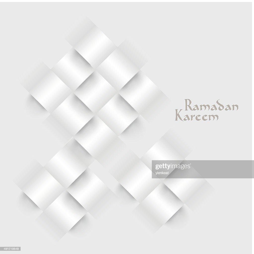 Vector 3D Paper Ketupat (Muslim Rice Dumpling).