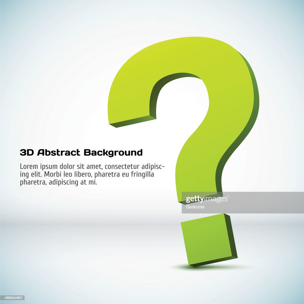 Vector 3D sign of question