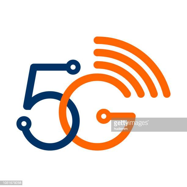 stockillustraties, clipart, cartoons en iconen met vector 5g draadloze wifi technologie symbool - china oost azië