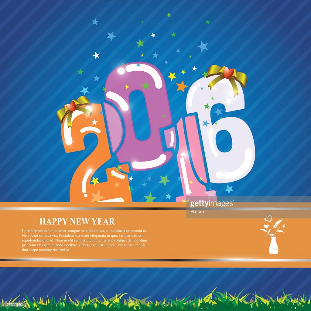 vector abstract 2016 template banner design celebration new year concept vector art