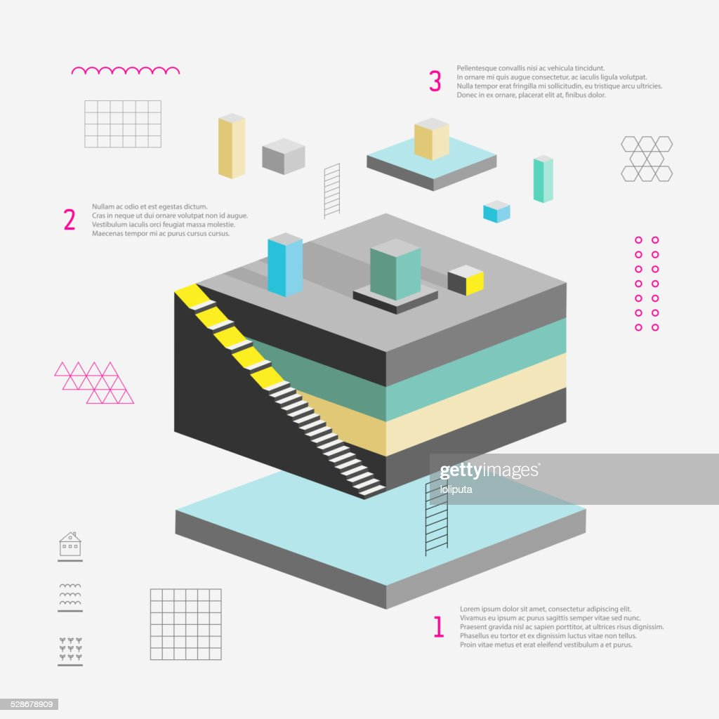 Vector abstract 3d  template for infographic or web design