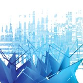 Vector abstract background. Frozen graph theme for your presentations.
