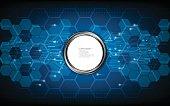 vector abstract background hexagon pattern design digital innovation concept