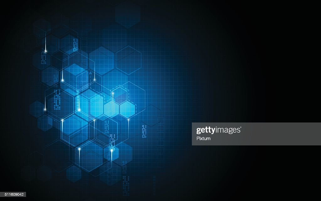 vector abstract background hexagons pattern sci fi tech innovation concept