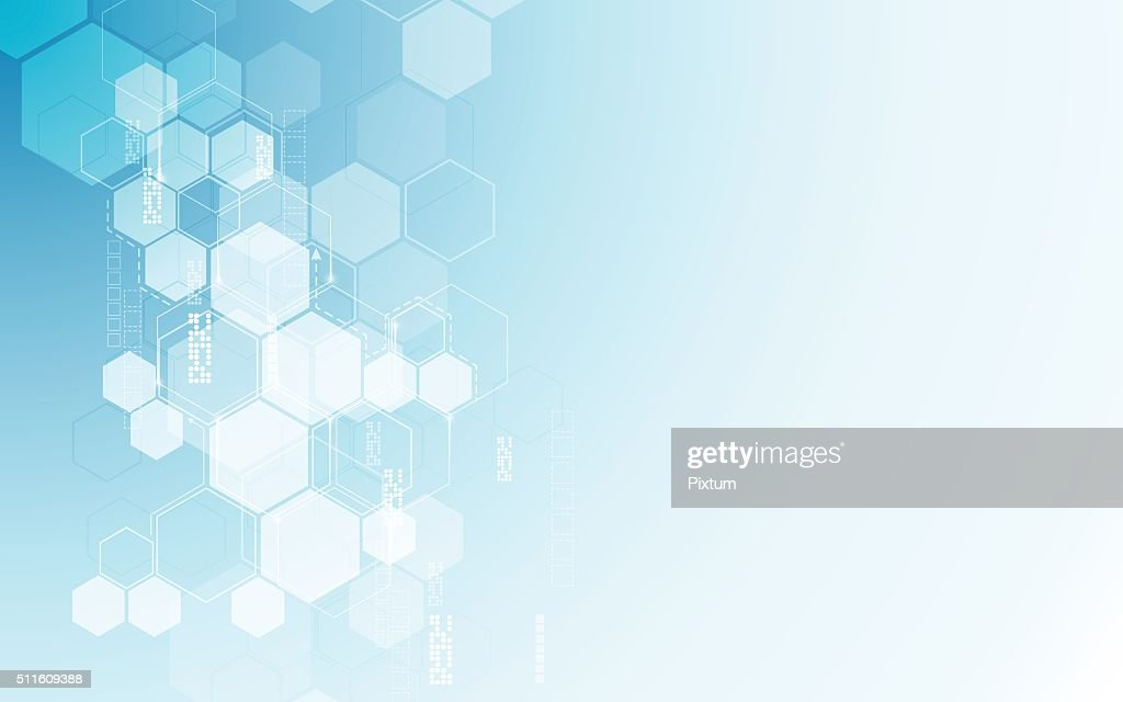 vector abstract background hexagons pattern tech sci fi innovation concept