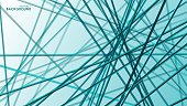 Vector abstract background of intersecting 3d lines in space for print, design and internet