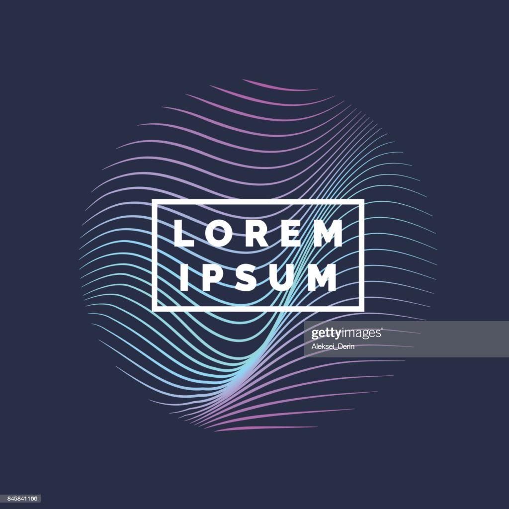 Vector abstract background with a colored dynamic waves, line