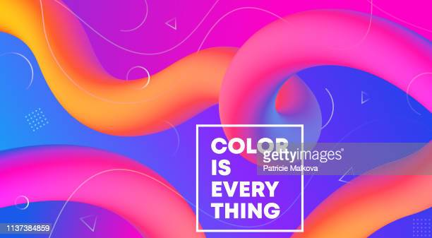 vector abstract background with colorful fluid gradient shapes, liquid design, flow abstract - multi colored background stock illustrations