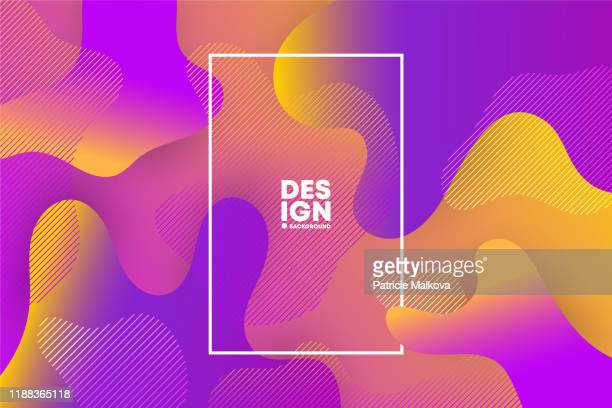 vector abstract background with colorful fluid gradient shapes, liquid design, flow abstract, geometric shapes composition - multi colored background stock illustrations