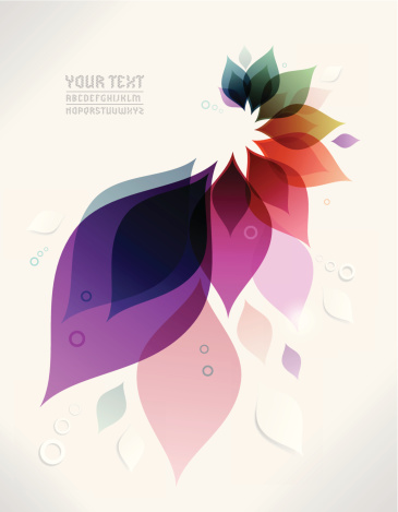 Vector abstract background with colorful leaves - gettyimageskorea