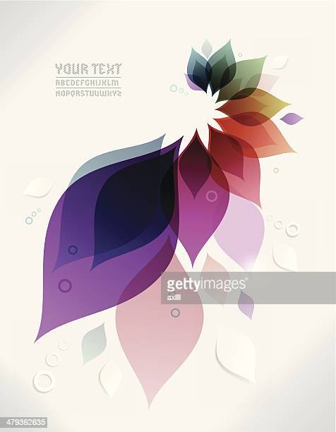 Vector abstract background with colorful leaves