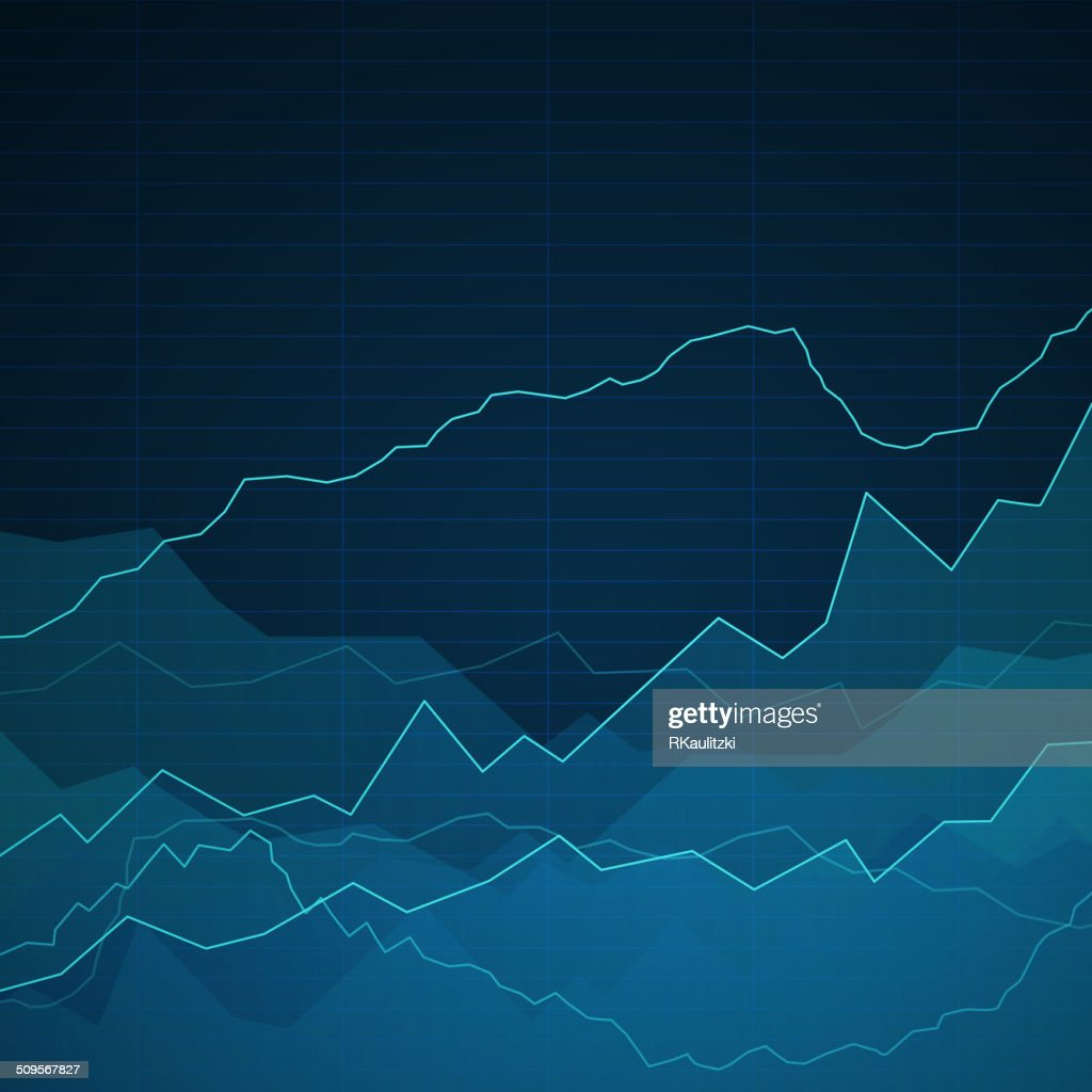 Vector Abstract Background with Graphs