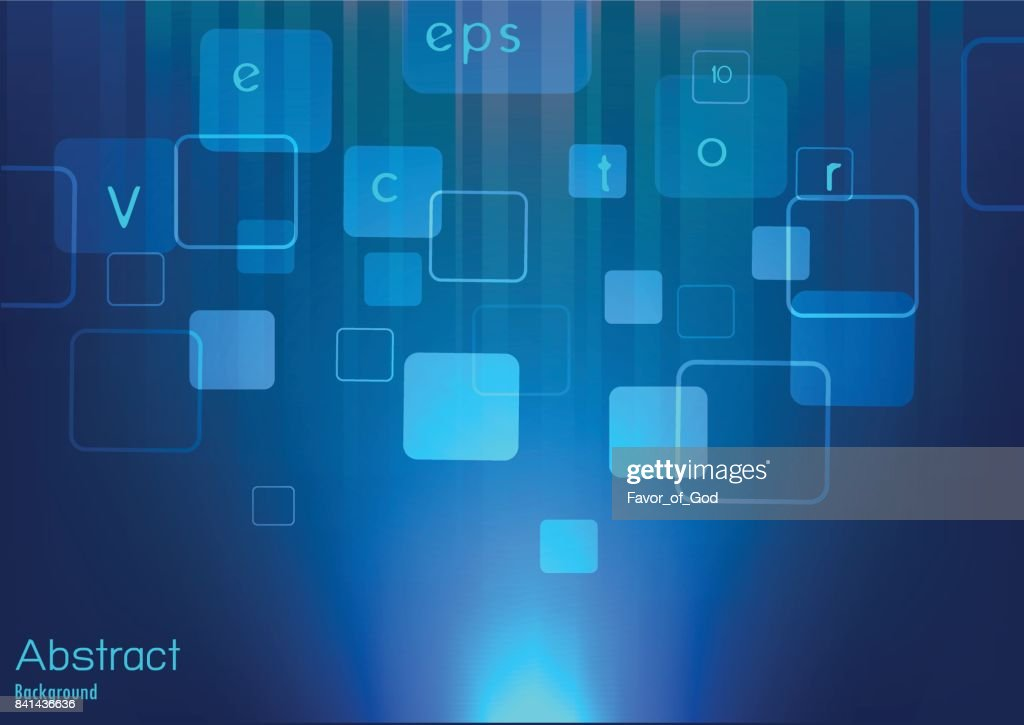 Vector abstract background with square flowing on background with light