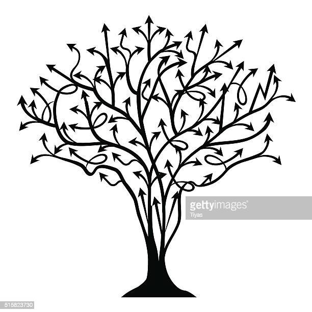vector abstract background with tree made of arrows