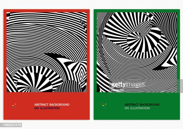 vector abstract backgrounds - animated zebra stock illustrations
