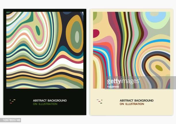 illustrazioni stock, clip art, cartoni animati e icone di tendenza di vector abstract backgrounds - effetto marmo