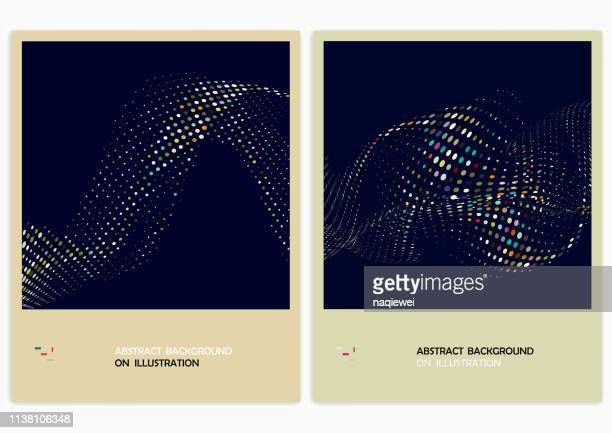 vector abstract backgrounds,flowing half tone dots - collection stock illustrations