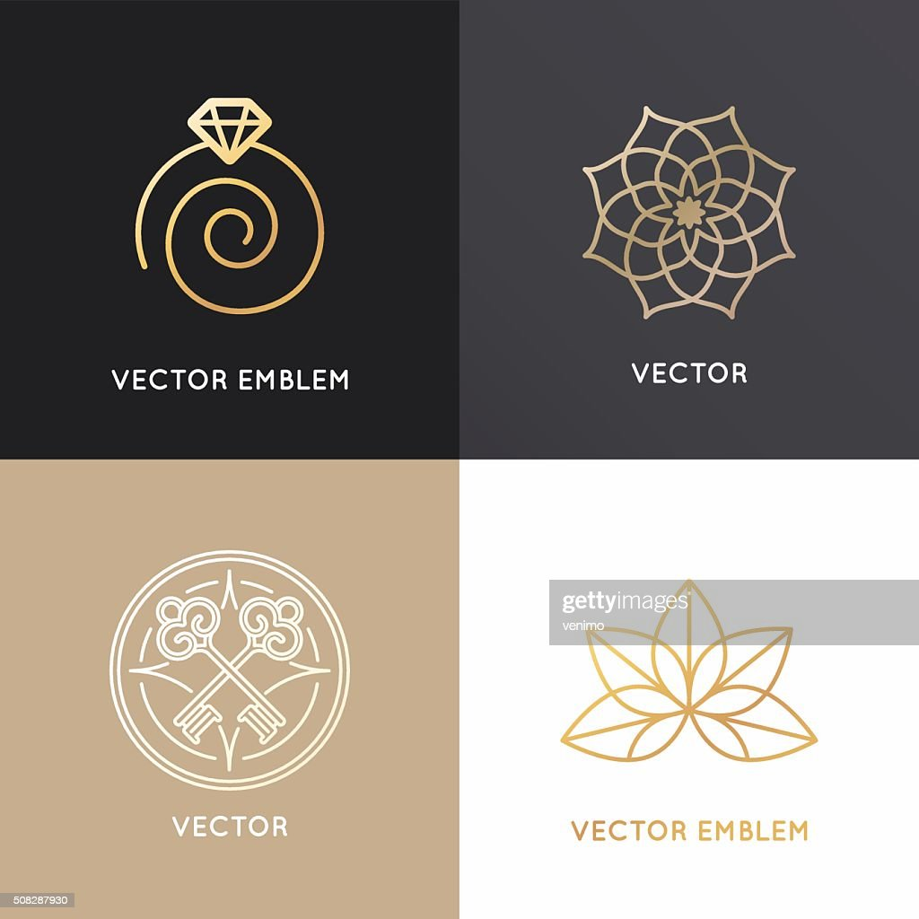 Vector abstract badges and emblems